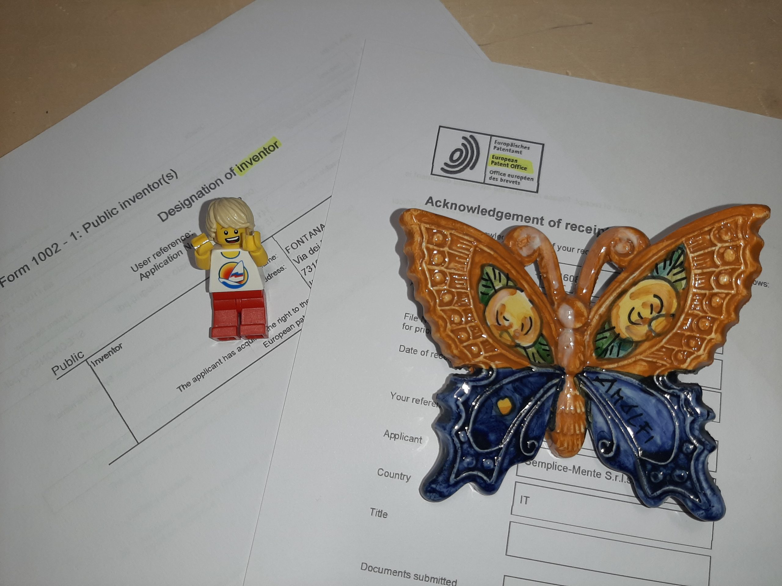 deposito brevetto europeo EPO Semplice-Mente Giorgio Fontana